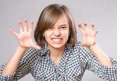 女孩少许纵向 免版税图库摄影