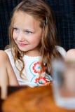 女孩少许纵向 免版税库存照片