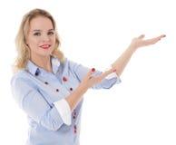 女孩展示 免版税库存图片
