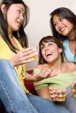 女孩巨大笑话人系列 免版税库存图片