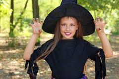 女孩巫婆 库存图片