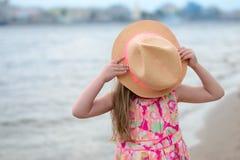 女孩帽子一点 免版税库存照片