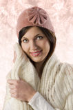 女孩帽子粉红色甜点 免版税库存照片