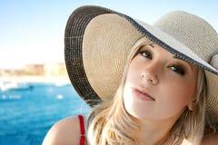 女孩帽子纵向 库存图片