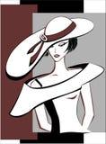 女孩帽子 免版税库存照片