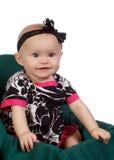 女孩幸福婴儿微笑 库存照片