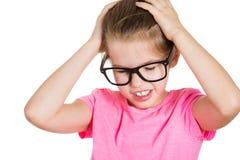 女孩强调 免版税库存图片