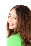 女孩微笑少年 免版税库存照片