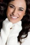 女孩微笑的年轻人 免版税库存图片