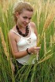 女孩微笑年轻人 图库摄影