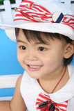 女孩微笑 免版税库存照片
