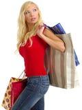女孩性感的购物 图库摄影