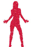 女孩性感的siluette 免版税图库摄影