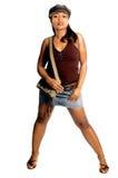 女孩性感都市 免版税图库摄影
