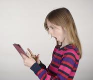 女孩恶化新闻 库存图片