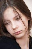 女孩悲伤 免版税库存图片