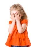 女孩惊吓了 免版税库存图片