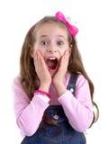 女孩惊吓了 免版税图库摄影