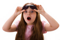女孩惊奇了 免版税库存图片