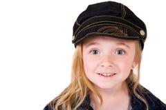 女孩惊奇的一点 免版税库存照片