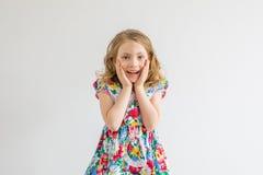 女孩惊奇 免版税库存图片