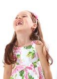 女孩愉快少许笑 免版税库存照片