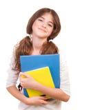 女孩愉快的学校 库存照片