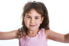 女孩愉快的微笑的年轻人 库存照片
