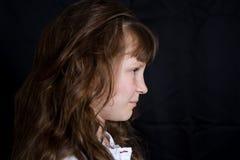 女孩愉快的微笑的年轻人 库存图片