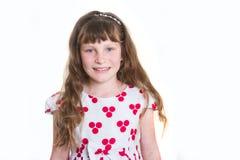 女孩愉快的微笑的年轻人 图库摄影