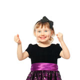 女孩愉快的微笑的成功 库存照片