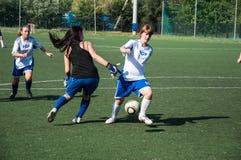 女孩戏剧足球, 免版税库存照片