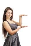 女孩成功的年轻人 免版税库存图片