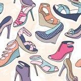 女孩或妇女的逗人喜爱的无缝的时尚样式 免版税图库摄影
