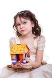 女孩房子 免版税库存图片