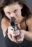 女孩手枪 库存图片