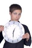 女孩手表 免版税库存照片