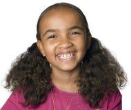女孩拉丁美州的笑的纵向 库存图片