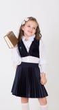 女孩拿着书2 免版税库存照片