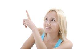 女孩指向 免版税库存图片
