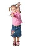 女孩挥动 免版税库存照片