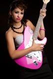 女孩摇滚明星 库存图片