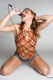 女孩摇滚明星 库存照片