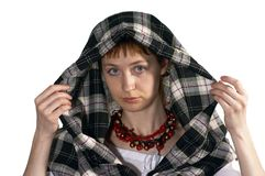 女孩敞篷 免版税库存图片