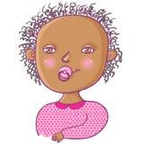 女孩新出生微笑 免版税库存照片