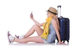 女孩旅行家 免版税库存图片