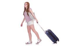 女孩旅行 免版税库存图片