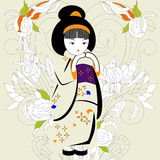 女孩日语 图库摄影