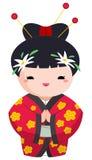 女孩日语 库存例证