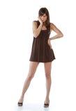 女孩时髦的年轻人 免版税库存图片